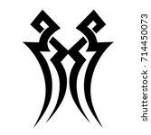 tattoo tribal vector design.... | Shutterstock .eps vector #714450073