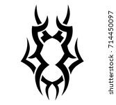 tribal tattoo art designs....   Shutterstock .eps vector #714450097