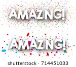 amazing paper banners with... | Shutterstock .eps vector #714451033