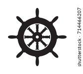 steering wheel icon vector | Shutterstock .eps vector #714466207