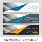 abstract web banner design... | Shutterstock .eps vector #714468367
