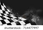 checkered flag background... | Shutterstock .eps vector #714477997