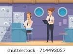 cruise liner yacht ship crew...   Shutterstock .eps vector #714493027