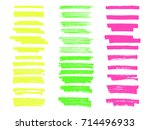 vector highlighter brush lines. ... | Shutterstock .eps vector #714496933