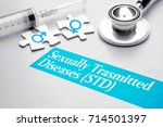 sexually transmitted diseases   ... | Shutterstock . vector #714501397