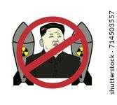 anti kim jong un control... | Shutterstock .eps vector #714503557