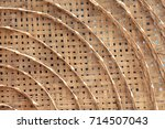 woven basket made of bamboo for ... | Shutterstock . vector #714507043