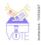 voting concept in linear style  ... | Shutterstock .eps vector #714526267