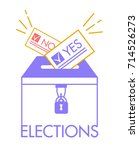 voting concept in linear style  ... | Shutterstock .eps vector #714526273