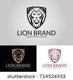 lion brand logo.three versions... | Shutterstock .eps vector #714526933