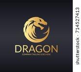 dragon logo.  easy to change... | Shutterstock .eps vector #714527413