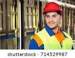 manual worker. | Shutterstock . vector #714529987