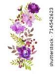 Purple Watercolor Floral...