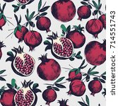 gorgeous seamless pattern with... | Shutterstock .eps vector #714551743