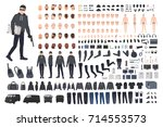 thief  burglar or robber diy... | Shutterstock .eps vector #714553573