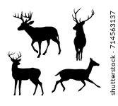 shape deer black | Shutterstock .eps vector #714563137