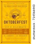 oktoberfest beer festival...   Shutterstock .eps vector #714566443