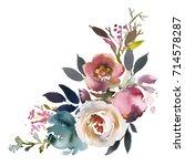 dusk blue pale pink gray white... | Shutterstock . vector #714578287