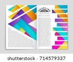 abstract vector layout... | Shutterstock .eps vector #714579337