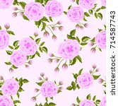 seamless pattern in small cute... | Shutterstock . vector #714587743