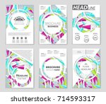 abstract vector layout... | Shutterstock .eps vector #714593317