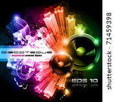 Music Party Disco Flyer With...