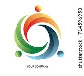 triple circle logo   Shutterstock .eps vector #714596953