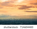 cloud and city  from plane... | Shutterstock . vector #714604483