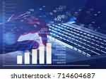 finance concept. | Shutterstock . vector #714604687