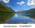 summer lake in the altai... | Shutterstock . vector #714608107