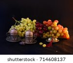 still life with vintage coffee... | Shutterstock . vector #714608137