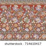 traditional indian motif | Shutterstock . vector #714610417