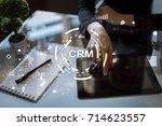 crm. customer relationship... | Shutterstock . vector #714623557