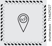 map pointer with cogwheels icon ... | Shutterstock .eps vector #714629227