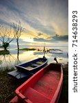 Fishing Boat And Sunrise.