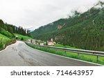 beautiful road in the italian... | Shutterstock . vector #714643957