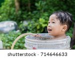children play and bathed water...   Shutterstock . vector #714646633