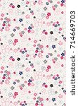 trendy seamless floral pattern... | Shutterstock .eps vector #714669703