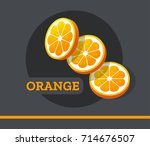 orange slice fruit vector set... | Shutterstock .eps vector #714676507