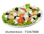 Greek Salad On White Background