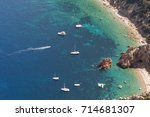cruise ships anchored in the...   Shutterstock . vector #714681307