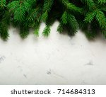 christmas and new year... | Shutterstock . vector #714684313