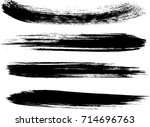 set of grunge brush strokes | Shutterstock .eps vector #714696763