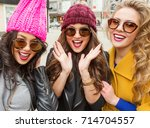 outdoor lifestyle fashion... | Shutterstock . vector #714704557
