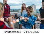 dancing on the roof | Shutterstock . vector #714712237
