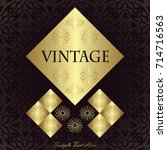 vintage design for invitation ... | Shutterstock .eps vector #714716563