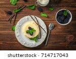 composition with vanilla... | Shutterstock . vector #714717043