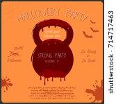 vector template of halloween... | Shutterstock .eps vector #714717463