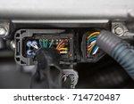 electric conectors   engine of... | Shutterstock . vector #714720487