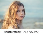 beautiful woman fashion model... | Shutterstock . vector #714722497